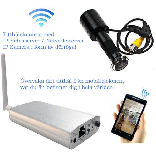 IP Kamera i form av titthålskamera, nätverkskamera i form av dörrkamera