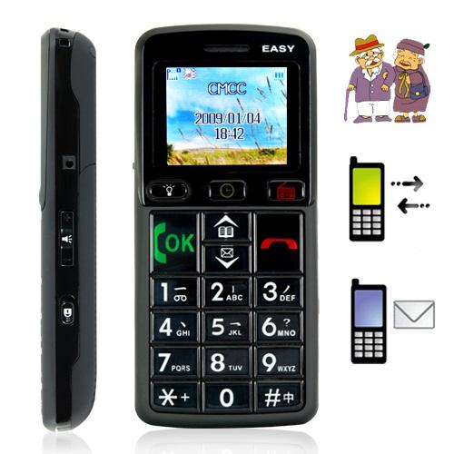 Mobiltelefon med stora knappar