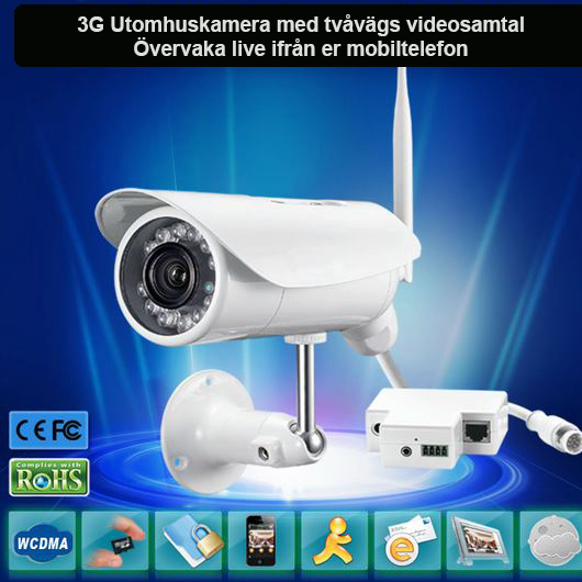 3g kamera för utomhusbruk