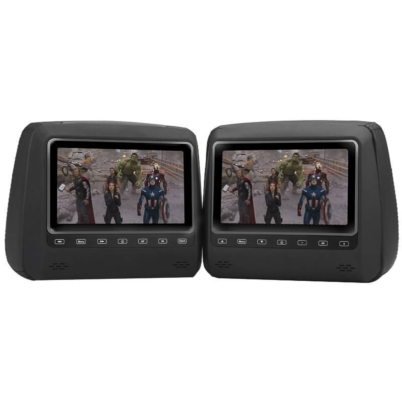 """2 nackstödsskärmar, 7"""" TFT LCD-display och 800x480 upplösning"""