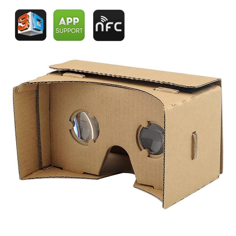 3D-glasögon, VR-headset av kartong för iPhone och Android enheter thumbnail