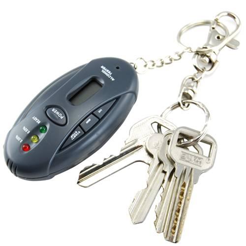 Alkoholmätare Nyckelring med ficklampa och stoppur