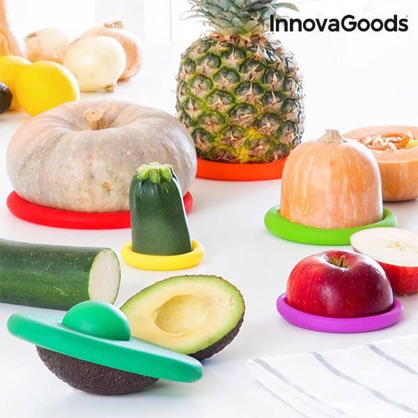Silikonlock för matvaror InnovaGoods Kitchen Foodies (6 delar)