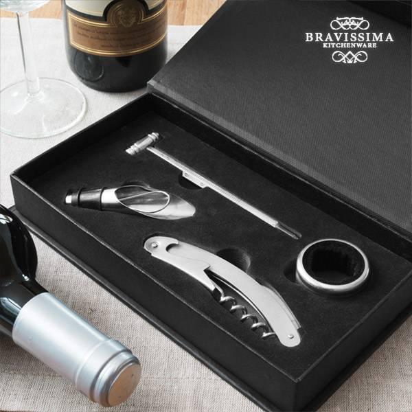 Set med Vintillbehör Vino Bravissima Kitchen (4 delar)