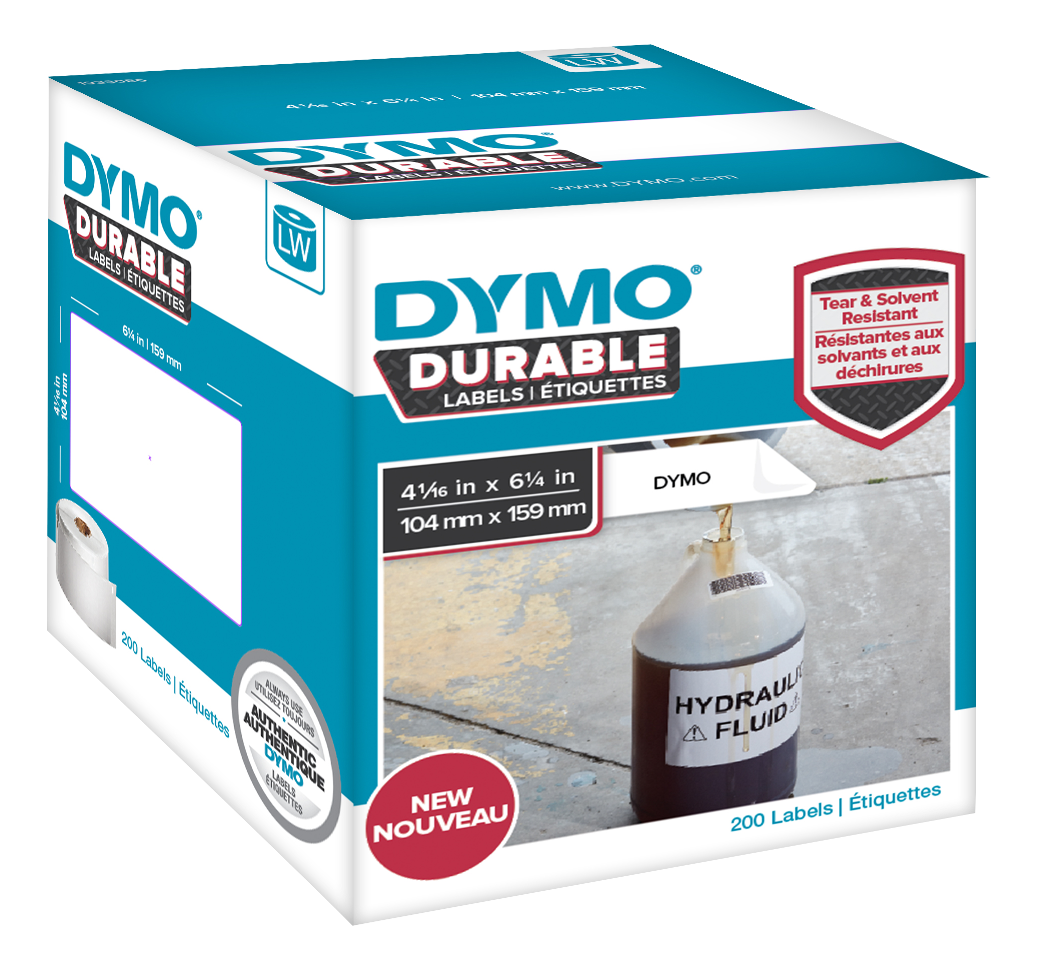 DYMO LW Durable extra-large shipping 104mm x 159mm, 200 etiketter thumbnail