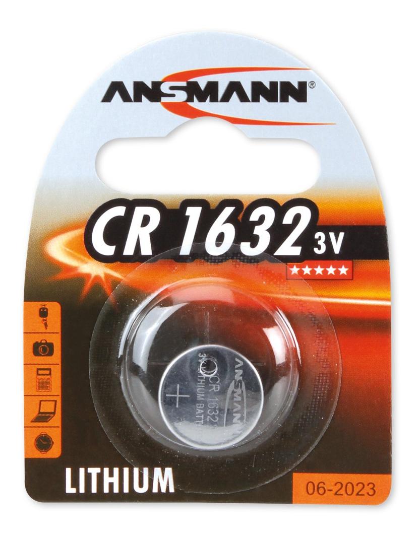 Ansmann CR1632 Lithium batteri, knappcell, 3V thumbnail