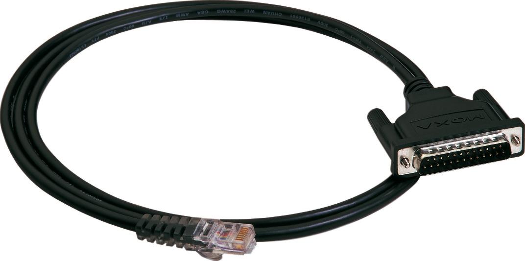 RJ45-kabel till Moxa Nport-server, 1xDB25ha, 1,5m