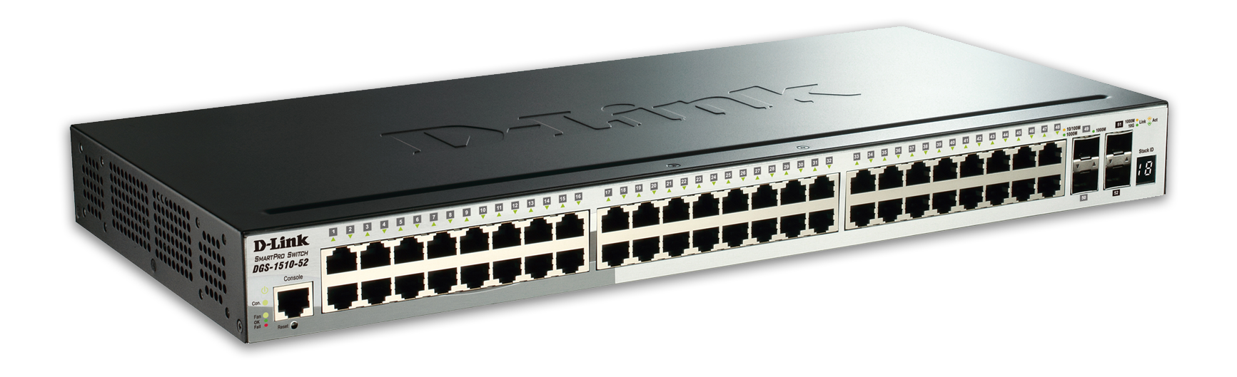 D-Link Gigabit Stackable SmartPro nätverksswitch, 48xRJ45, 4xSFP, PoE