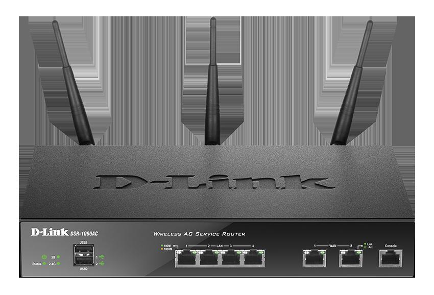 D-LINK DSR-1000AC, Trådlös router med VPN, 802.11ac, svart