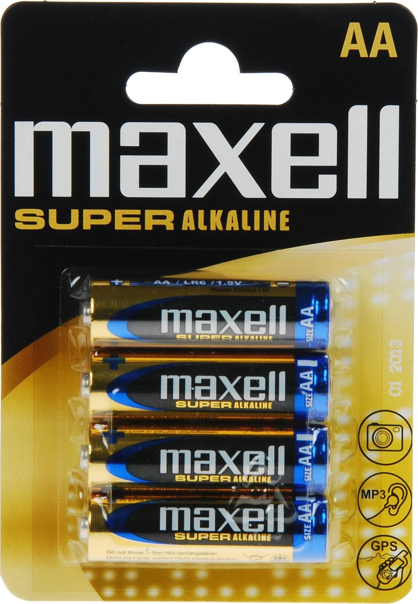 Maxell AA LR06 superalkaliska batterier 4-pack