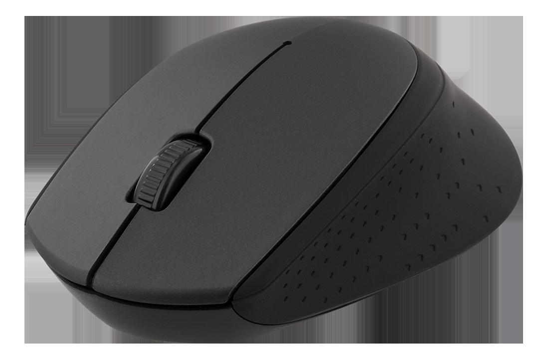 DELTACO trådlös optisk mus 2,4GHz, 3 knappar med scroll,1200 DPI,svart
