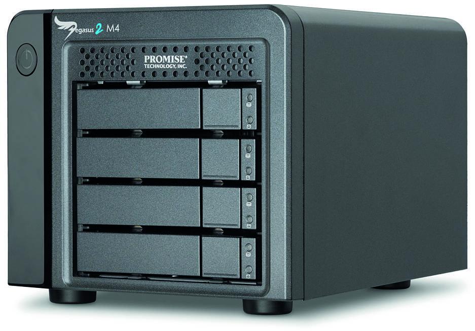 "Promise Pegasus 2 M4, 4 x 1TB SATA 2.5"" HDD , incl Thunderbolt cable"