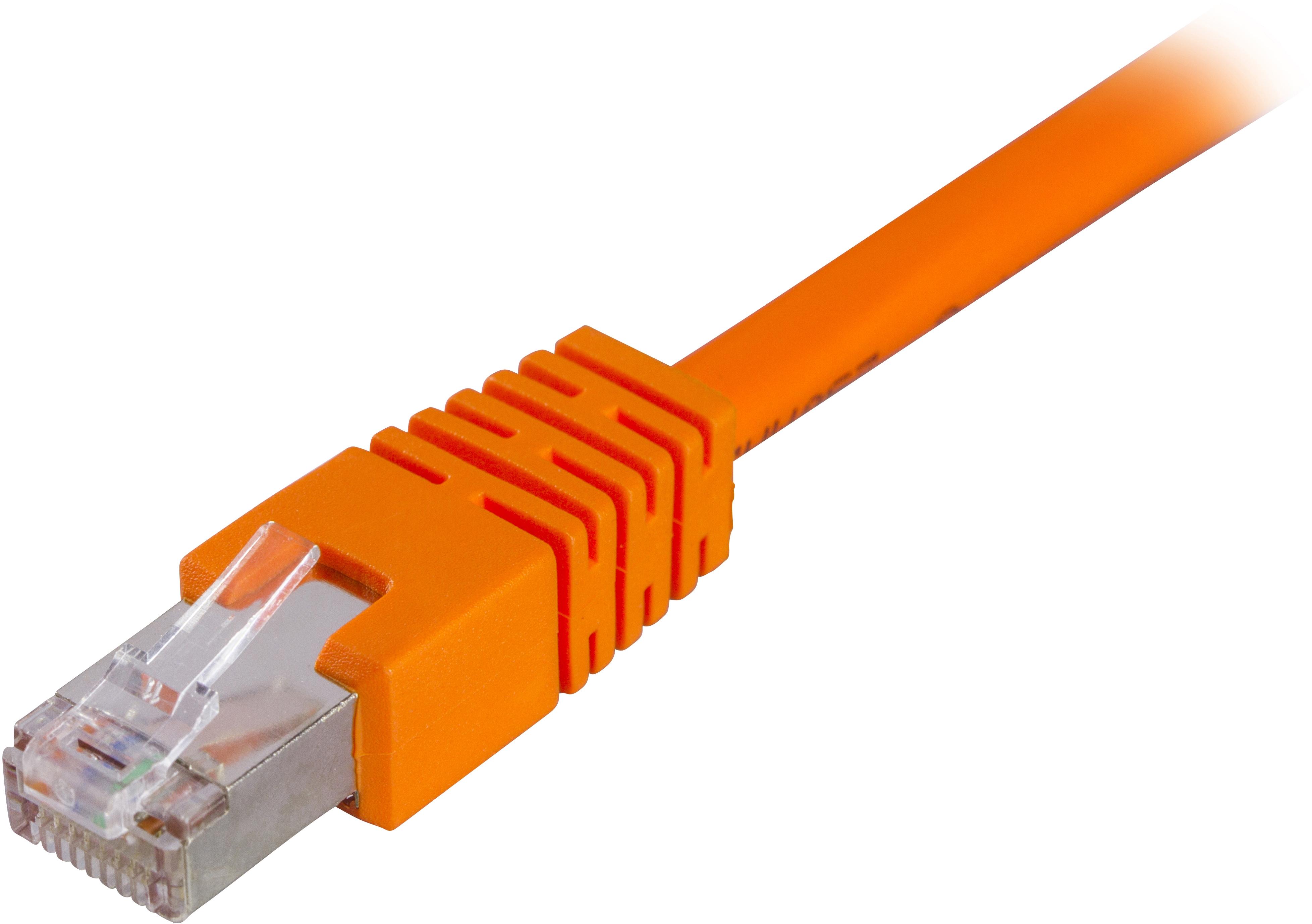 DELTACO F/UTP Cat6 patchkabel, LSZH, 5m, orange thumbnail