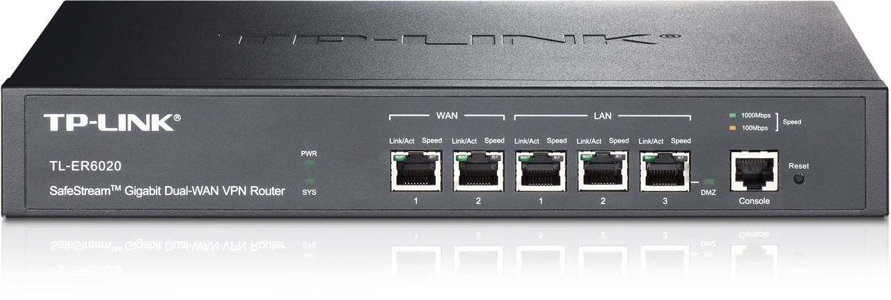 TP-Link Safestream VPN Router 2xGE WAN, 2xGE LAN, 1GE LAN/DMZ, svart