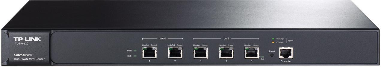 TP-LINK, router 2xWAN, 2xLAN, 1xDMZ, VPN-stöd