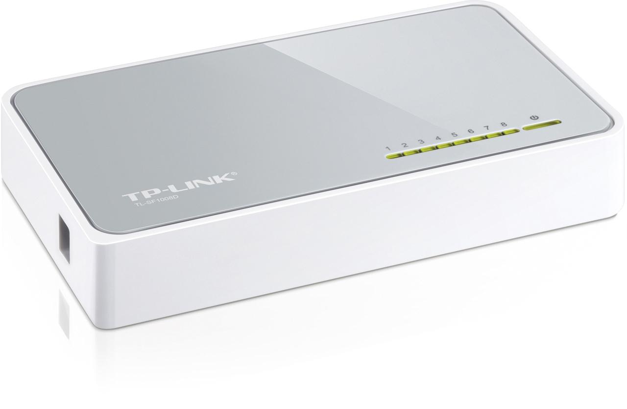 TP-LINK nätverksswitch, 8-ports, 10/100 Mbps, RJ45, Auto MDI/MDIX
