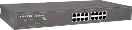 """TP-LINK nätverksswitch, 16-ports, 10/100 Mbps, RJ45, 19"""""""
