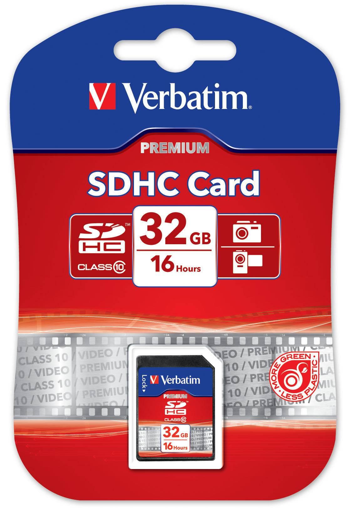 Verbatim minneskort, SDHC Class 10, 32GB