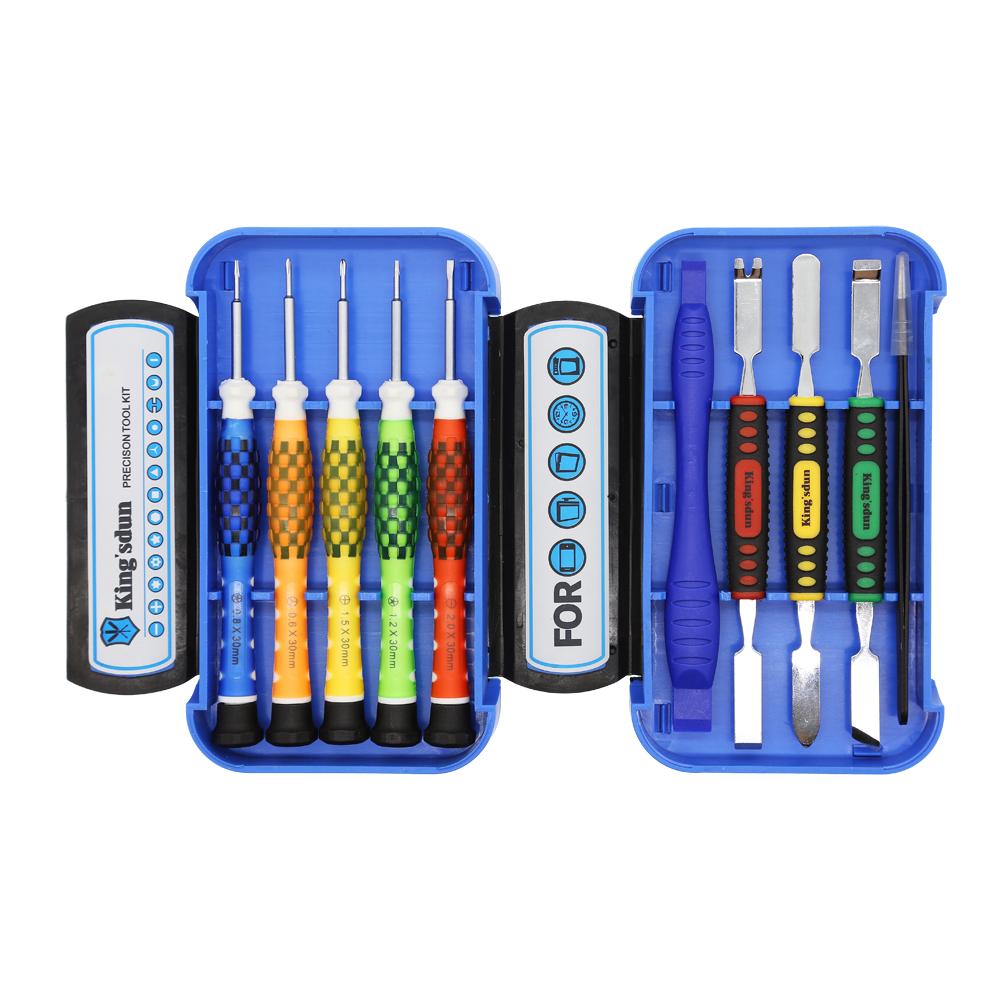 Smartphone Reparationssats, 10 st, Precision CRV, blå