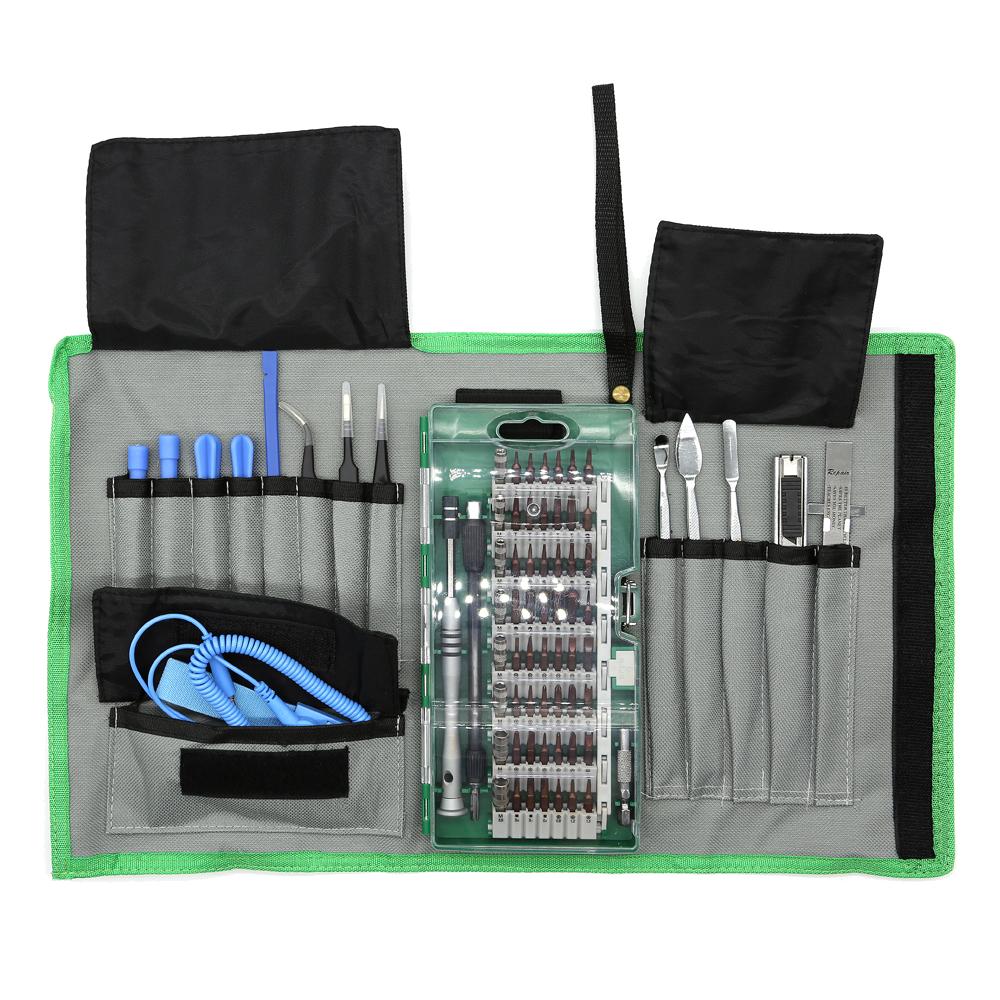 Smartphone Reperationssats, 75 st, Precision CRV, grön