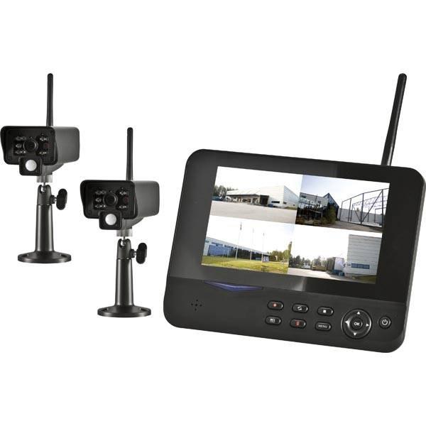 Köp DVR-Kit med 2st trådlösa kameror och 7