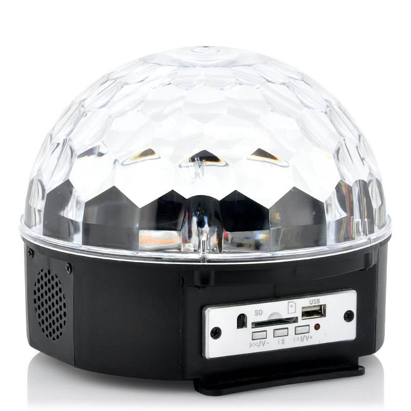 LED Discokula, med musikanpassad lasershow och inbyggda högtalare thumbnail