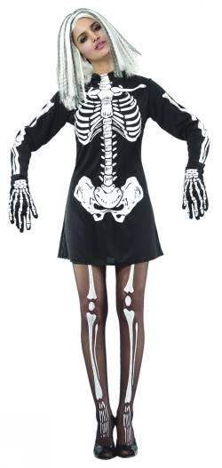 Maskeraddräkt Skelett Klänning Vuxen
