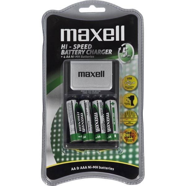 Maxell batteriladdare,100-240 V, för AA och AAA-batterier thumbnail
