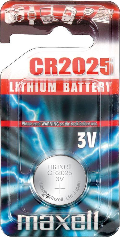 Maxell knappcellsbatteri lithium, 3V, CR2025, 1-pack thumbnail