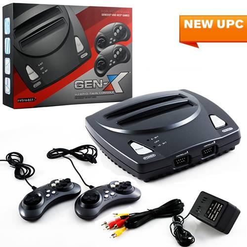NES & Genesis 2 in 1-system med 2 kontroller thumbnail