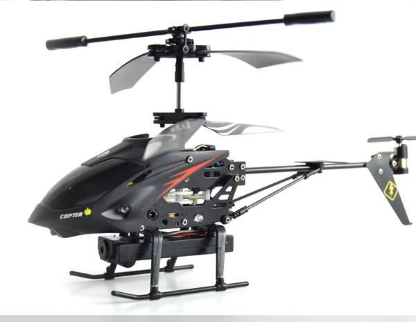 Radiostyrd helikopter med kamera