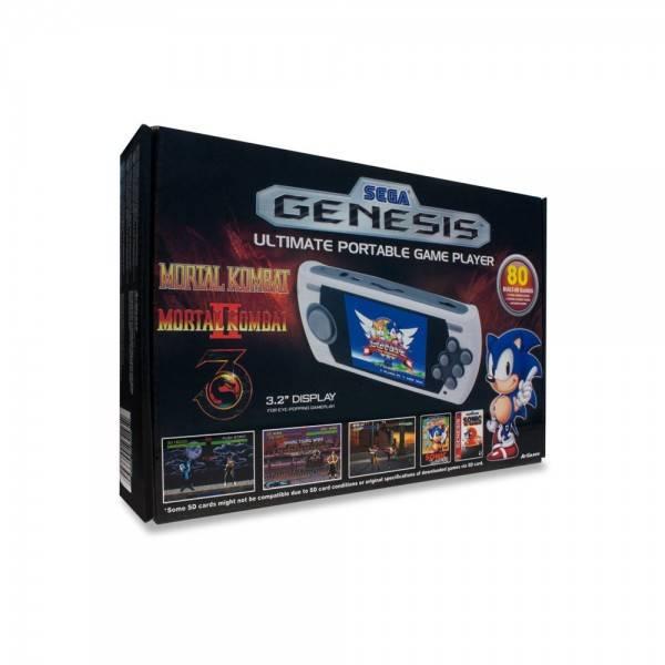 Sega Genesis Ultimate Bärbar Spel Konsol med 80 inbyggda spel, emulator