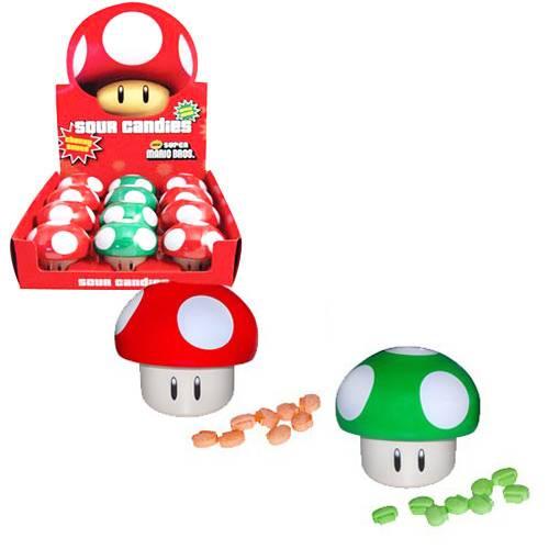 Super Mario Svamp Godis, powerup, röd