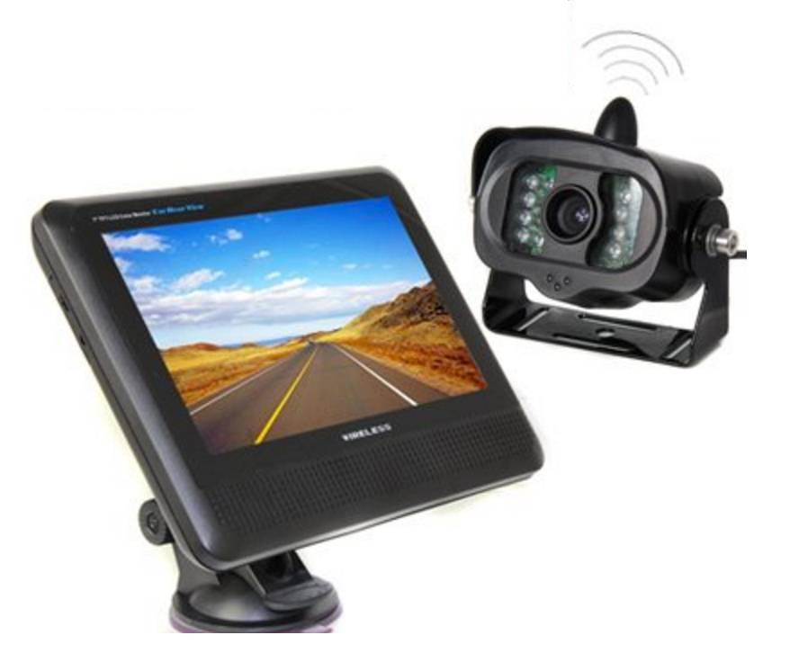 Trådlös backkamera husbil/lastbil med 7 tums TFT-LCD skärm
