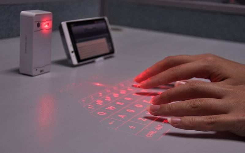 Trådlöst bluetooth laser-tangentbord för iOS, Android, Windows & Mac thumbnail