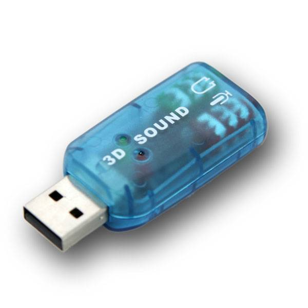 USB-Ljudkort - 5.1 Surround - USB 2.0