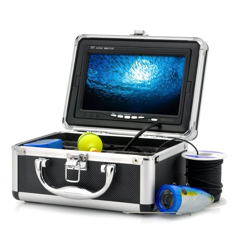 Fiskekamera med 7-tums LCD-skärm, 15m, Videoinspelning thumbnail