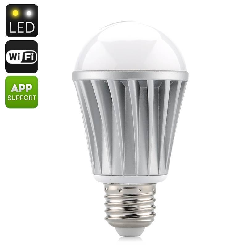 WIFI Led-lampa - 550 Lumens - Styr över WIFI från mobiltelefonen