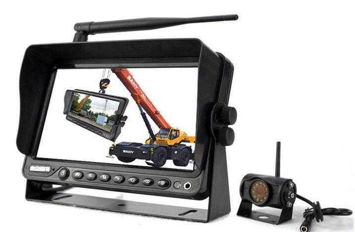 Trådlöst backkamerasystem / backvarningssystem till buss, lastbil, husvagn, 7-tums monitor