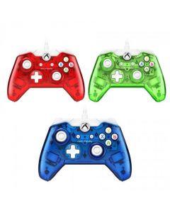 Xbox One Rock Candy Kontroller med kabel, Röd