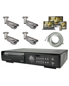 Premium Utomhus Övervakningspaket med 4st utomhuskameror