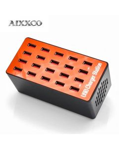 USB-Laddningsstation/USB-Hub med 20 portar och den senaste Snabbladdningsteknologin