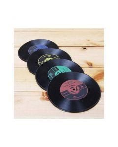 2-pack underlägg i retrostil, vinylskiva