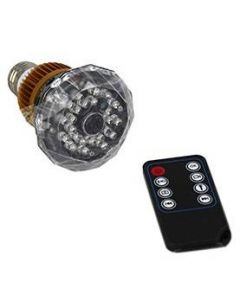 720p Spionkamera i e27 lampa med ljudaktivering, rörelseaktivering, IR