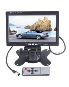 Bilmonitor för mediaspelare och backkamera, färg, 7