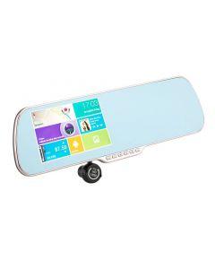 Androidbaserad Backspegel med backkamera, GPS, WIFI & filmkamera