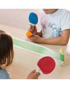 Mini Pingis-set med två racketar, boll och nät, fästs enkelt med sugkoppar