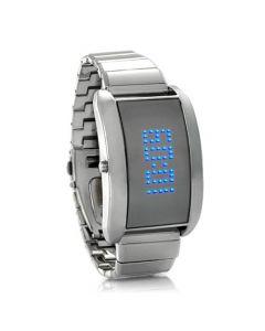 Blue Steel - armbandsur med svepande textmeddelande på LED-skärmen