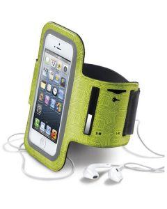 CellularLine justerbart sportarmband för iPhone 5/5S/5C, limegrön