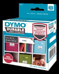 DYMO LW Durable small multi-purpose 25mm x 54mm liten box, 160 etikett